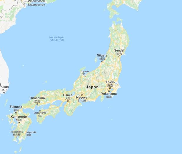 Le Ministère de l'Europe et des affaires étrangère recommande aux voyageurs de se tenir informé de l'évolution de la situation et de se conformer strictement aux recommandations des autorités locales. - DR Google Maps