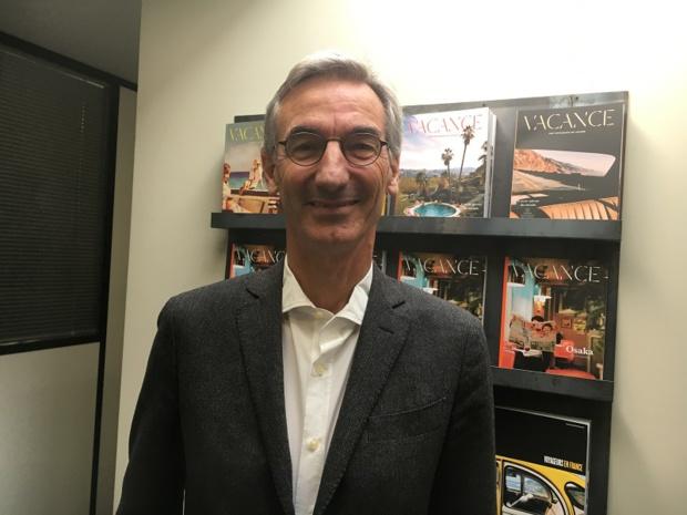 Lionel Habasque, directeur général délégué de Voyageurs du Monde a présenté les résultats financiers du groupe à la presse ce jeudi 18 avril 2019. - CL