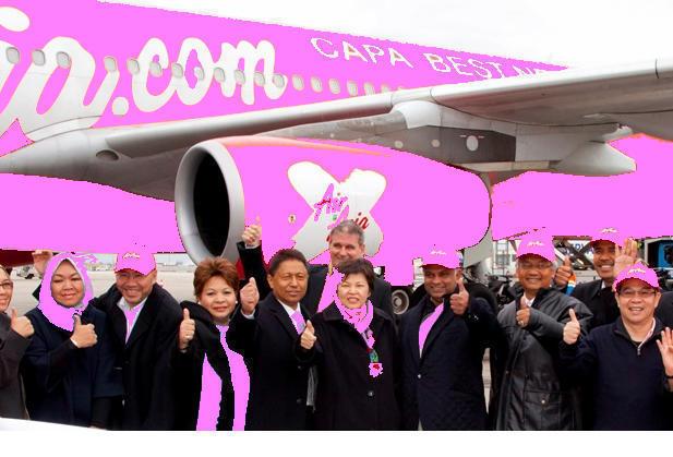 Air Asia X aime Léa et le MPCR et elle le fait savoir. C'est bien connu, le rose ça fait même planer les éléphants...