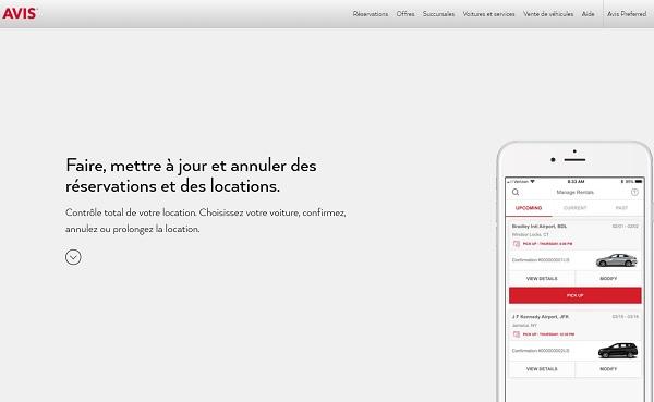 """Avis veut """"simplifier le processus de location"""" grâce à son application mobile - Crédit photo : Avis"""
