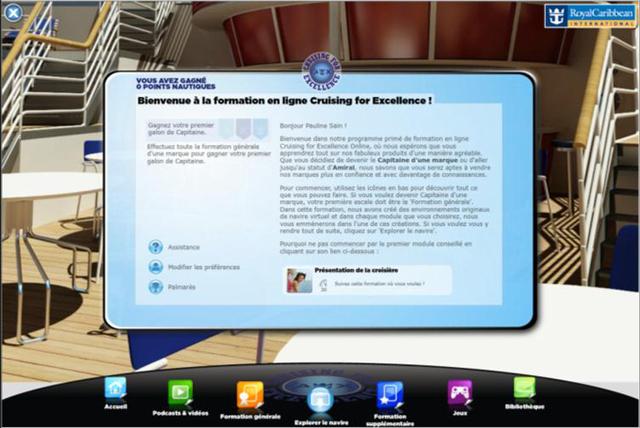 Royal Caribbean propose un module de formation en ligne