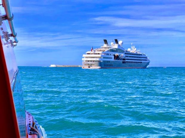 """L'""""Austral"""" est sorti des chantiers navals Fincantieri de Trieste en 2011. Il a trois sister-ships, Le Boréal, Le Soléal et Le Lyrial /crédit photo JDL"""