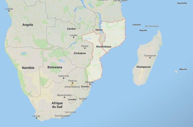 Des vents violents de plus de 80 km/h sont attendus sur la côte nord-est du Mozambique dans la province de Cabo Delgado dès le 25 avril. - GoogleMap