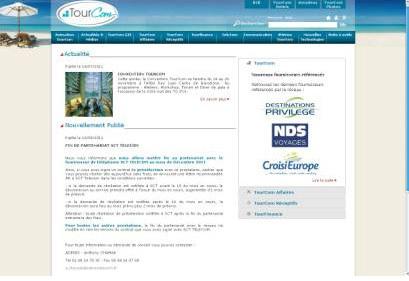 TourCom : nouveau site B2B dédié aux agences