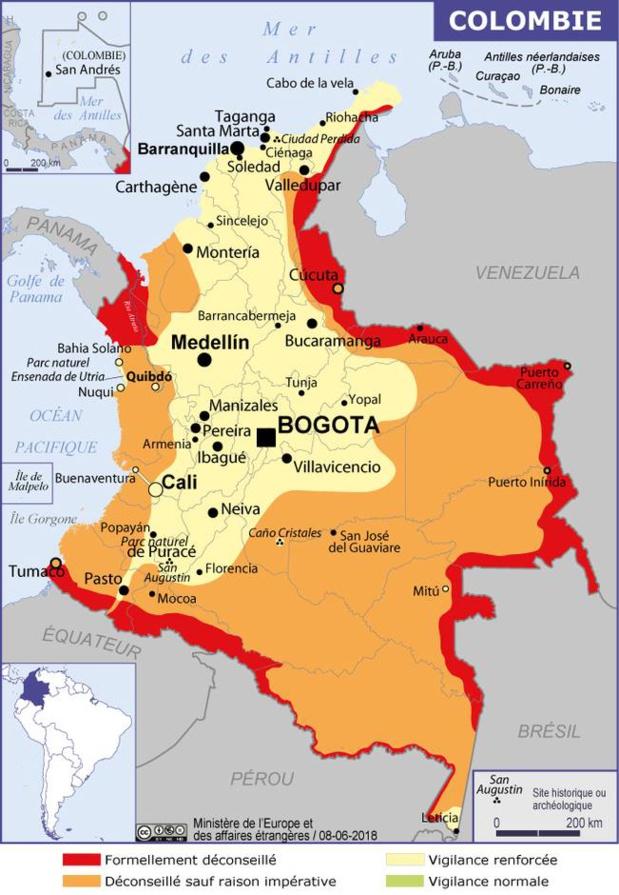 Colombie : manifestations prévues à partir du 25 avril 2019