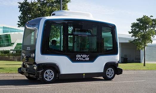 La navette autonome EasyMile effectuera des trajets à Toulouse - Crédit photo : EasyMile
