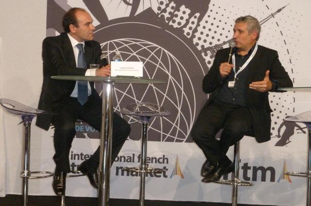 Habib Ammar, directeur de l'Office de Tourisme de Tunisie et Michel Bensadoun, directeur de la Fonderie et nouveau président de l'ANAE, ont débattu sur la notion de tourisme citoyen à Top Résa - DR : M.SANI