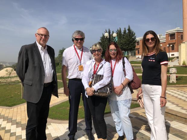 L'équipe de TravelEurope avec Monica (droite), responsable du nouveau bureau réceptif à Tirana - DR : JDL