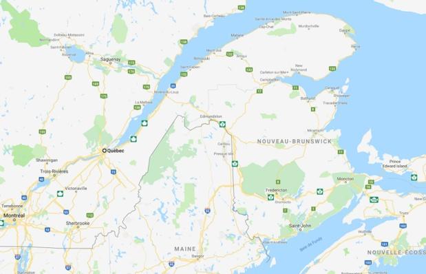 Inondations au Canada dans le Sud du Québec et au Nouveau-Brunswick- DR