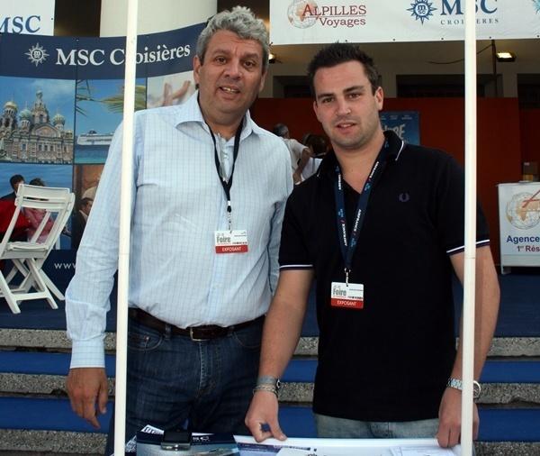 Philippe et Morgan sur le stand d'Alpilles à la Foire de Marseille