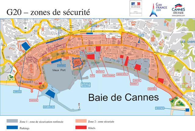 Une « zone de sécurisation renforcée » sera mise en place autour des principaux hôtels de la Croisette et du port de Cannes - DR