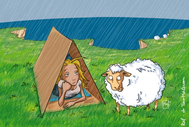 Je vous ai raconté mes vacances en Irlande, hein ? La conduite à gauche, le montage de tente laborieux, les whiskies pour se donner de jolies couleurs et les photos de moutons entre une averse et un grain…  - DR : Raf, TourMaG