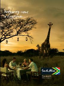 Campagne publicitaire l 39 afrique du sud voit les choses - Office du tourisme afrique du sud paris ...