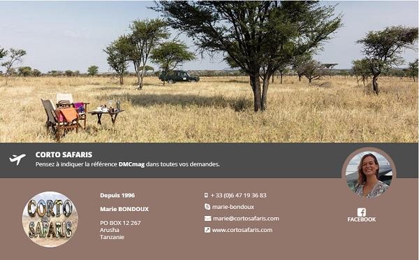 Corto Safaris rejoint DMCMag.com - DR