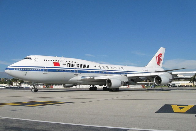 Air China sur le tarmac de l'aéroport de Nice Côte d'Azur - Photo DR