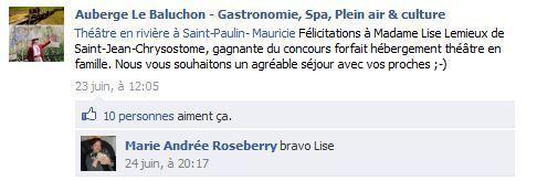Source: Auberge Le Baluchon