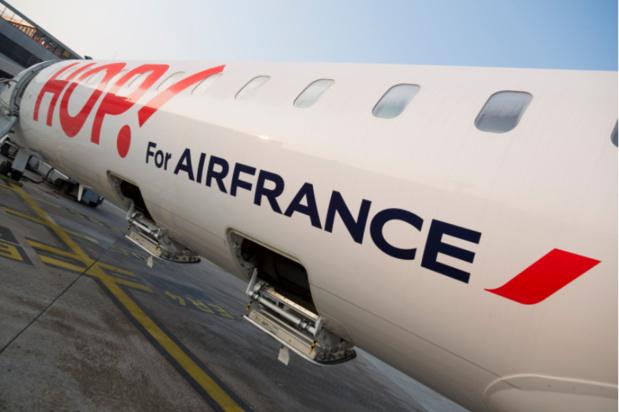 La filiale domestique d'Air France, Air France-Hop, pourrait être la première touchée par un plan social qui sera annoncé le 13 mai © AF
