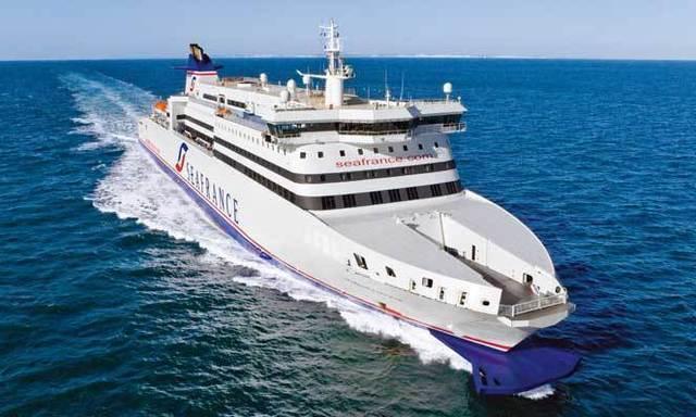 Le dernier né de la flotte SeaFrance affiche sa différence. Le plus long ferry sur le transmanche marque les esprits par sa ligne fine et épurée... pour combien de temps encore ? photo Seafrance