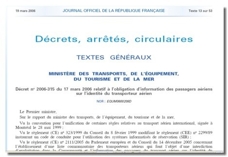Information du passager aérien : le décret publié au JO