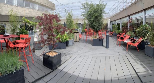 Le jardin paysager permet aux clients de profiter d'un espace extérieur - DR : Star Alliance