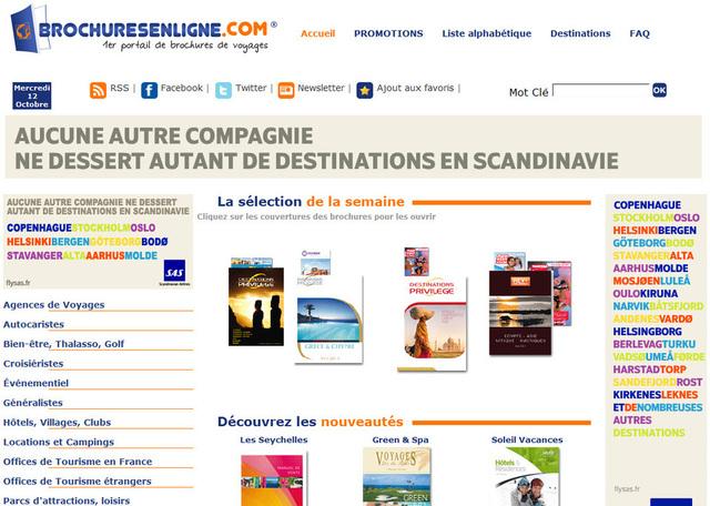 Le site de Brochuresenligne.com recense près de 200 catalogues électroniques.