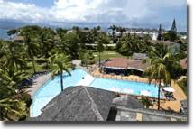 Vue de La Creole Beach Hotel*** en Guadeloupe