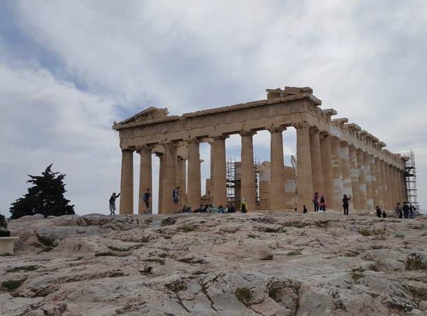 Parthénon, Agora, Propylées… tous ces sites évoquent les débuts de la démocratie et de ses penseurs stars, Socrate, Aristote, Platon… - DR : A.B.