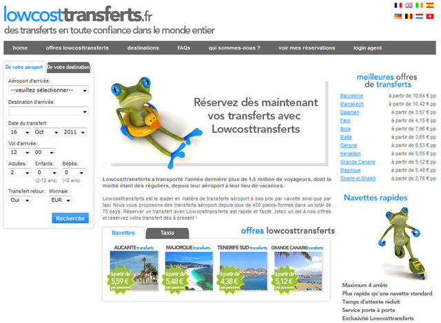 Le site Lowcosttransferts.fr a été lancé en France juste avant le salon IFTM Top Resa. - Photo DR