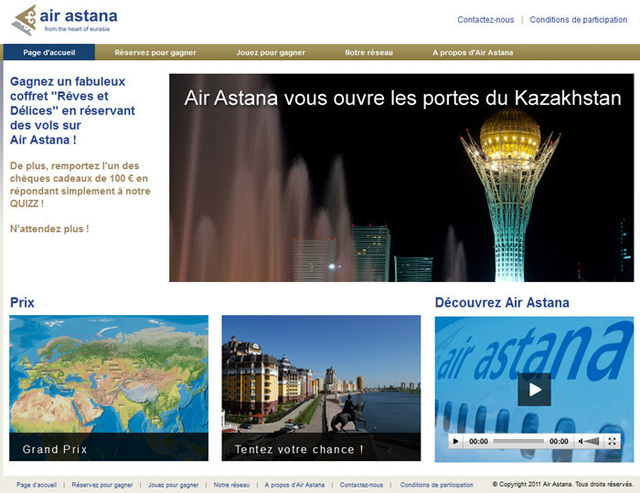 Les agents de voyages doivent se connecter au site Airastanapromotion.com pour participer.
