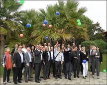 Les administrateurs d'AS Voyages et les 24 délégués régionaux réunis à Sophia Antipolis, à Nice - DR