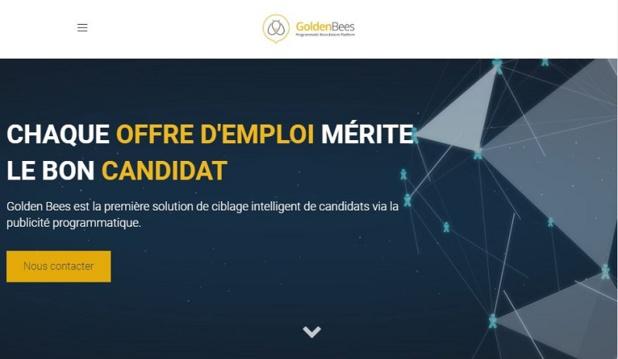La start-up parisienne Golden Bees optimise le sourcing de candidats en mettant la publicité programmatique au service de son offre de recrutement. – DR Golden Bees