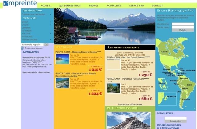 Empreinte va mettre en ligne un nouveau site dédié aux agences de voyages.