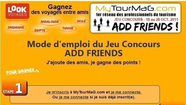 MyTourMaG.com : les heureux gagnants du Jeu ADD FRIENDS sont...