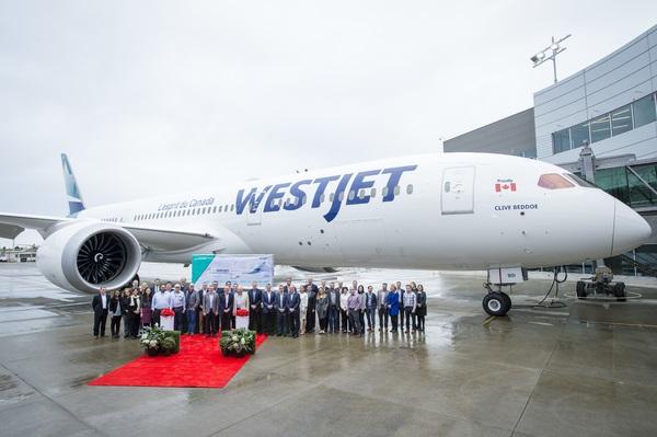 WesJet : inauguration du vol entre Calgary-Paris - Crédit photo : WestJet