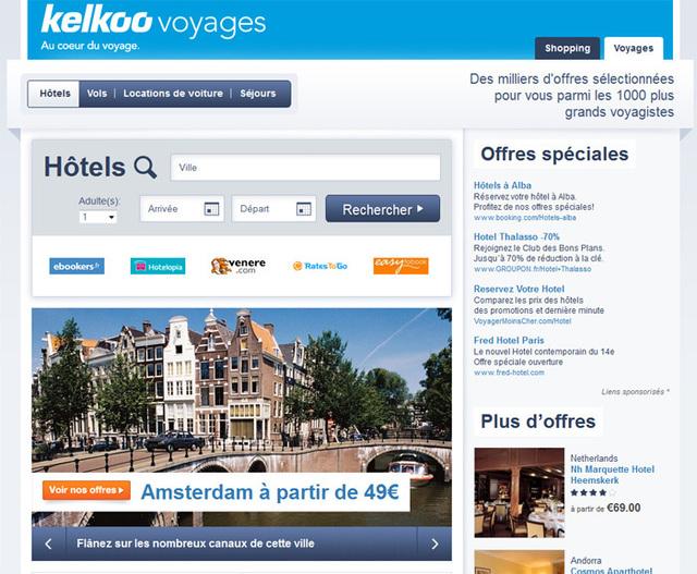 La version BETA de la rubrique Hôtel, de Kelkoo Voyages