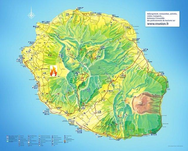 L'incendie s'est déclaré sur la côte ouest de l'île de la Réunion, une région assez sèche durant cette période de l'année - DR