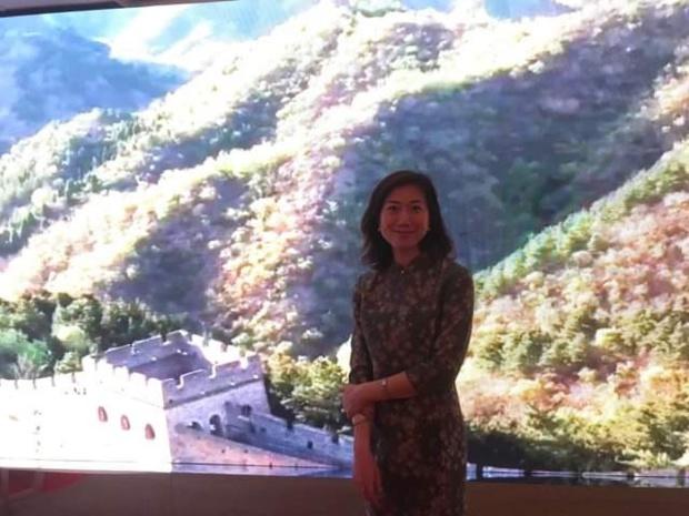 Fan Wang, directrice générale France et Belgique d'Air China, lors de l'inauguration du pop-up de la compagnie, jeudi 23 mai à Paris DR PG TM