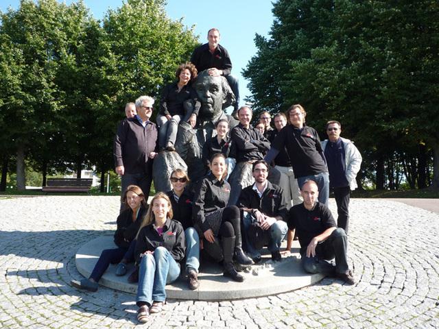 Toute l'équipe Quartier Libre en séminaire à Tallinn en septembre 2011  - Photo DR