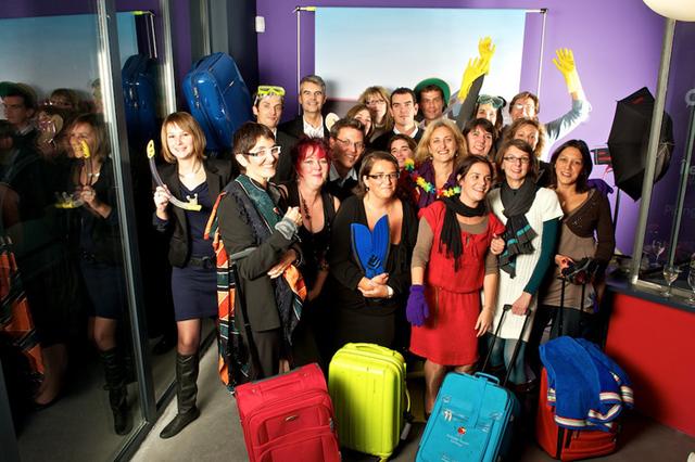 L'équipe de la holding Odyssée dans ses nouveaux locaux - Photo DR.
