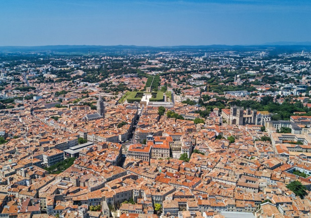Vue aérienne de Montpellier - Depositphotos.com JaySi