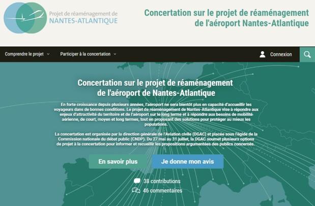 Le site internet participatif www.reamenagement-nantes-atlantique.fr offre notamment aux corps constitués la possibilité de mettre en ligne un cahier d'acteur - DR
