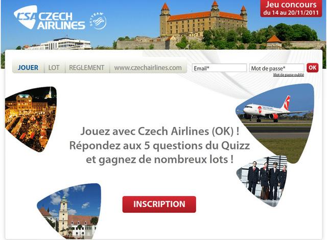 Czech Airlines fait gagner des vols vers Prague et Bratislava