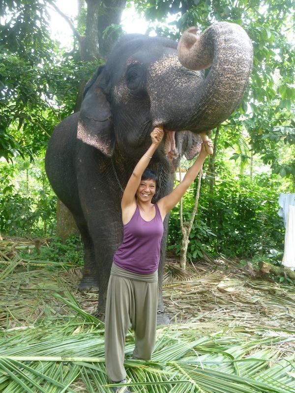 Caroline Debonnaire, créatrice de Vision Ethique à Périyar dans la région du Kérala en Inde du Sud.