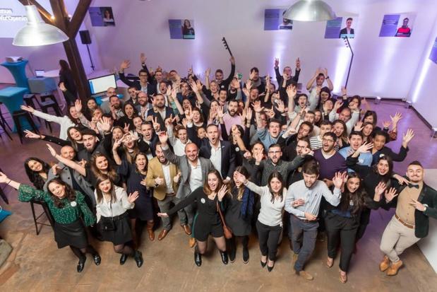 Les équipes de la start-up RH Wizbii en 2019. - DR Wizbii