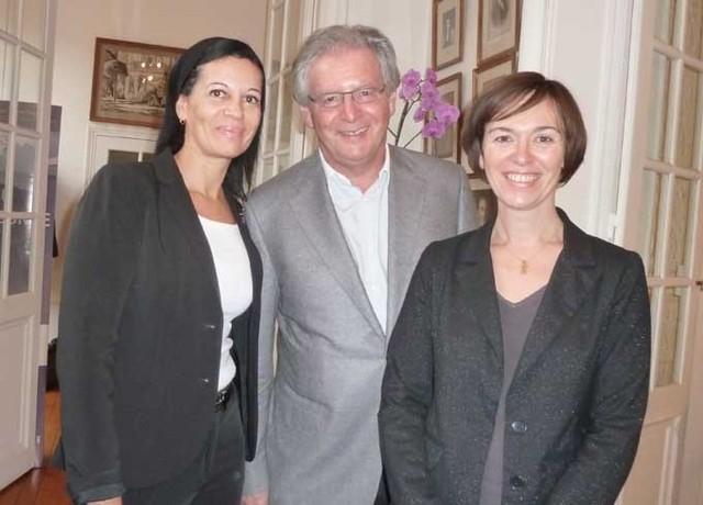 René-Marc Chikli, président du CETO entouré par Emmanuelle Llop (à gauche) et Laurence Jegouzo - DR : M.Sani