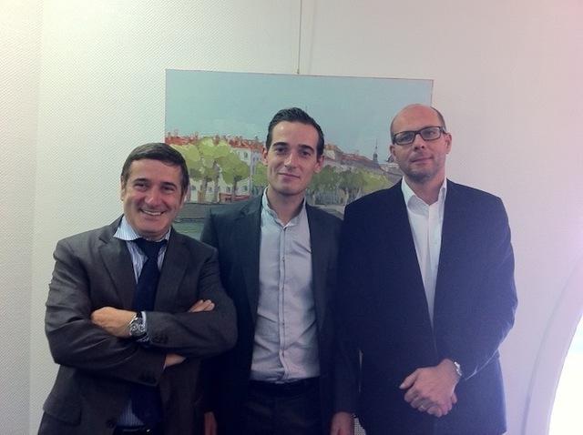 Loïc Planche à droite aux côtés de Yves et Pierre-Olivier Guillermin