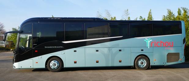 Le tout dernier autocar du groupe, un Volvo 9900 - DR : Richou Voyages