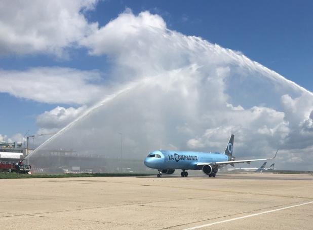Le tout nouvel A 321 Neo flambant neuf de La Compagnie s'est envolé pour la première fois vers New York le 6 juin 2019 - DR : C.H.