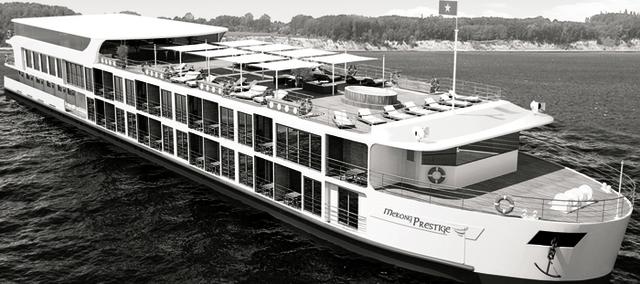 Le R/V Mékong Prestige (4*) sera construit par Mékong Waterways  dont Rivages du Monde devient l'agent exclusif - Photo DR