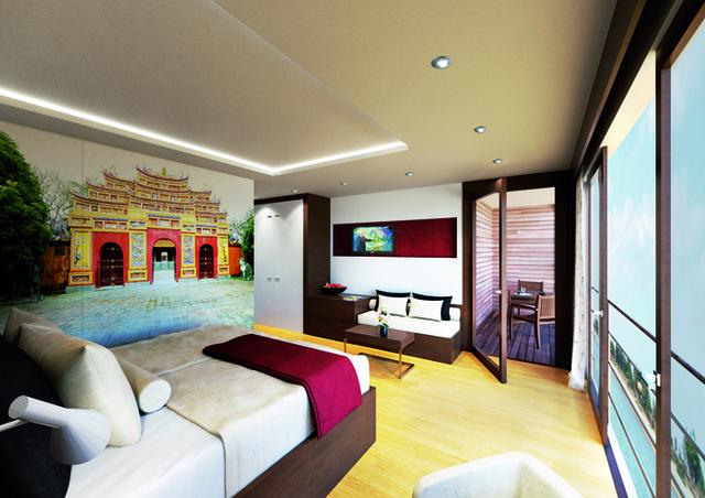 Les cabines disposent d'une surface de 23 m2 minimum équipées de balcons privés